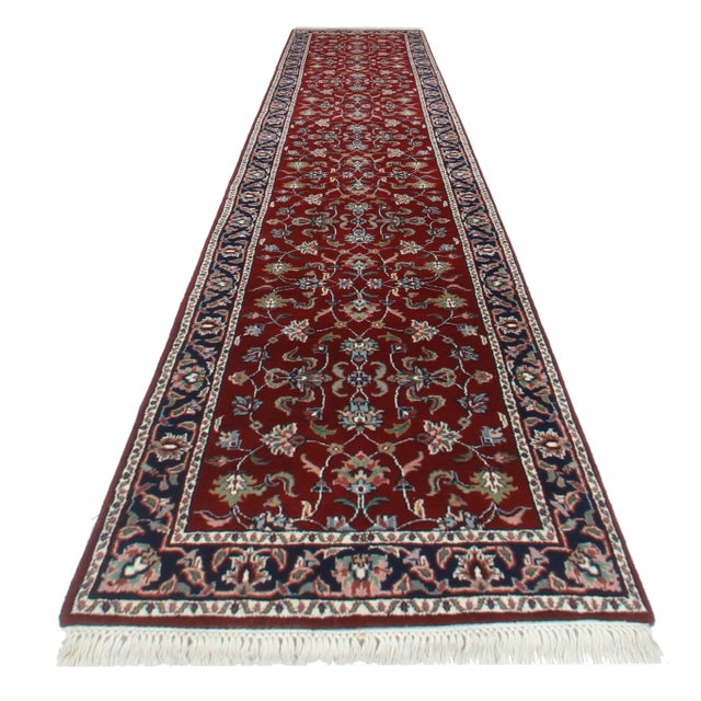 RugsinDallas Persian Style Hand Knotted Wool Runner - 2′6″ × 12 - Image 1 of 2