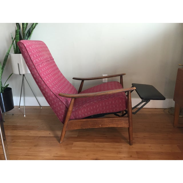 Red Milo Baughman Recliner 74 for Thayer Coggin For Sale - Image 8 of 10