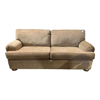 Thomasville Gold Fabric Sofa For Sale