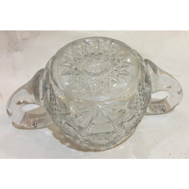 Mid-Century Cut Glass Sugar Bowl For Sale - Image 10 of 11