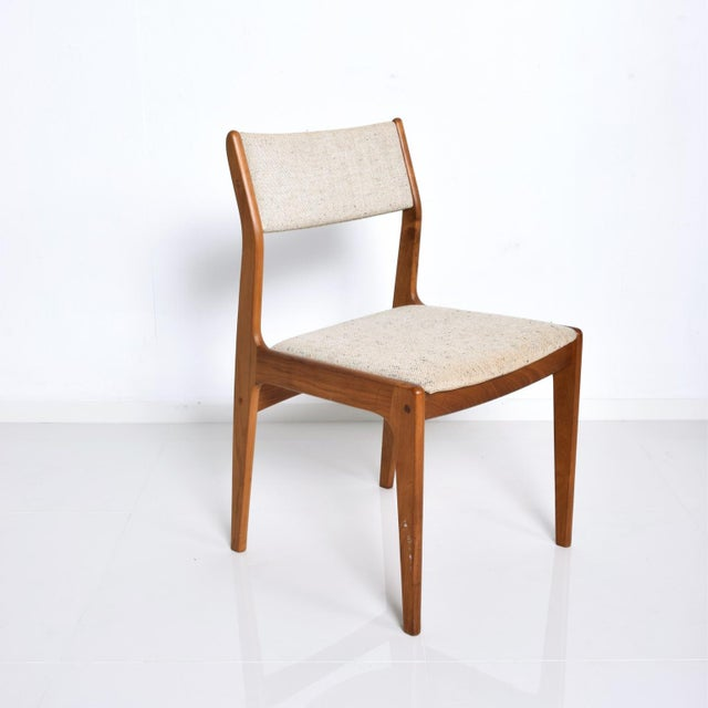 Benny Linden Mid-Century Danish Modern Teak Dining Chairs - Set of 4 For Sale - Image 10 of 11
