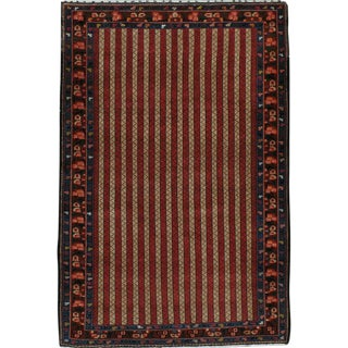 "Vintage Persian Bakhtiari Rug - Size: 4' 9"" X 7' 3"" For Sale"