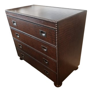 Bernhardt Textured Faux Alligator Wood Bachelor's Chest For Sale