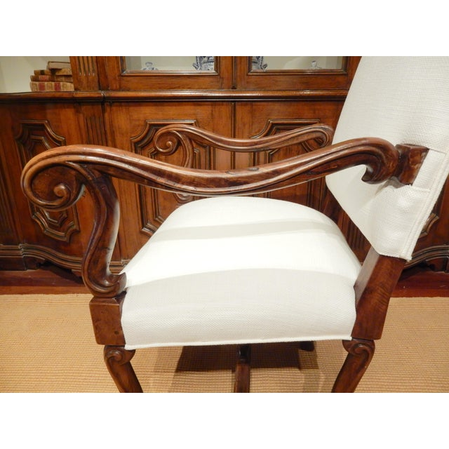 Late 19th Century Late 19th Century Italian Walnut Armchair For Sale - Image 5 of 9