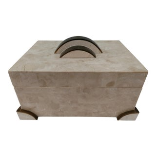 Vintage Art Deco Styled Tessellated Stone Box For Sale