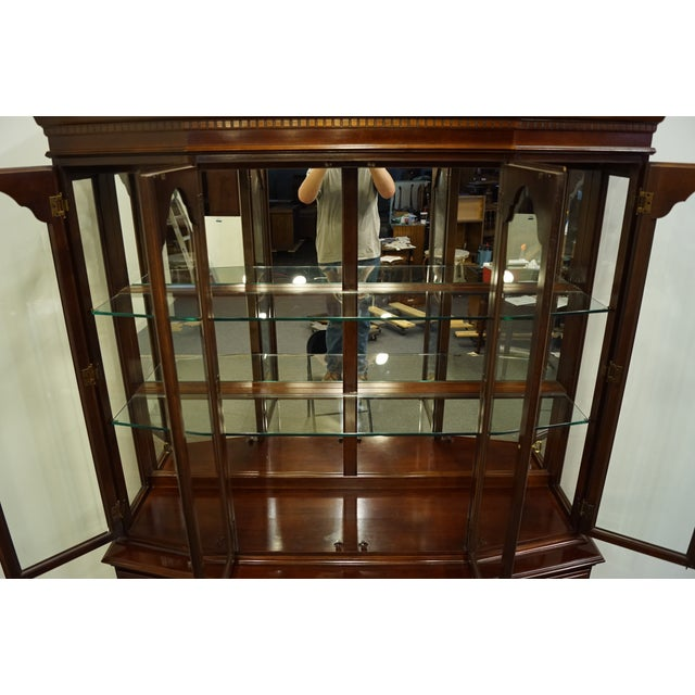 1980s Bernhardt Furniture Traditional Solid Cherry China Cabinet For Sale - Image 5 of 12