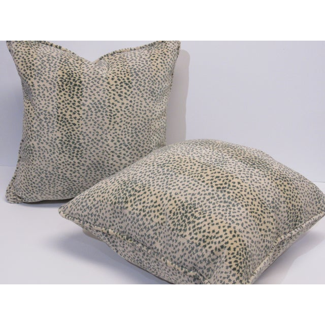 Contemporary Colefax & Fowler Fabric Pillows - a Pair For Sale - Image 3 of 5