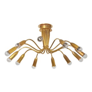 1950s Bag Turgi, Brass Chandelier, Switzerland For Sale