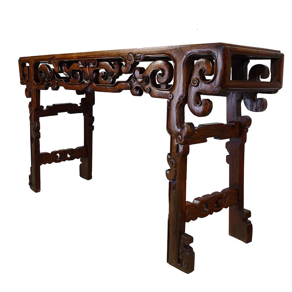 Chinese Antique Carved Altar Table   Image 2 Of 11