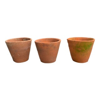 1900s Antique Belgian Terra Cotta Pots For Sale