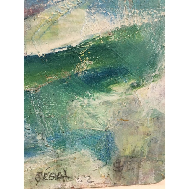 Segal Scandinavian Modern Abstract Painting - Image 5 of 9
