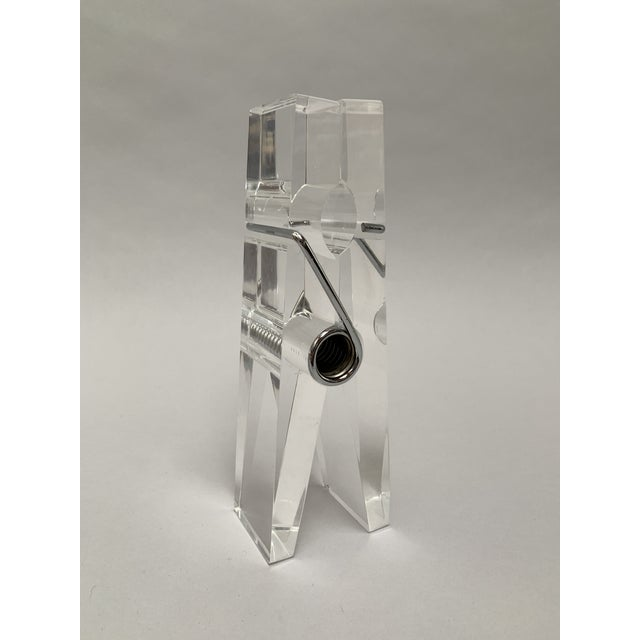 Oversized Lucite Clothespin Paperweight or Paper Holder For Sale - Image 13 of 13