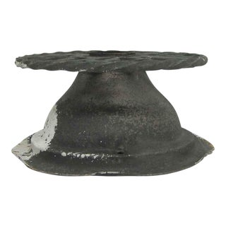 Cast Iron Twisted Circular Flush Mount Fixture For Sale