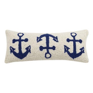 Anchor Trio Hook Pillow For Sale