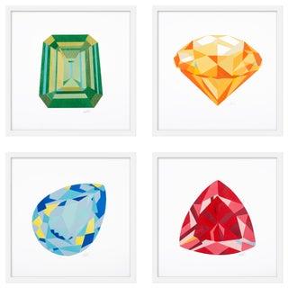 "Medium ""Gems, Set of 4"" Print by Rankin Willard, 40"" X 40"" For Sale"