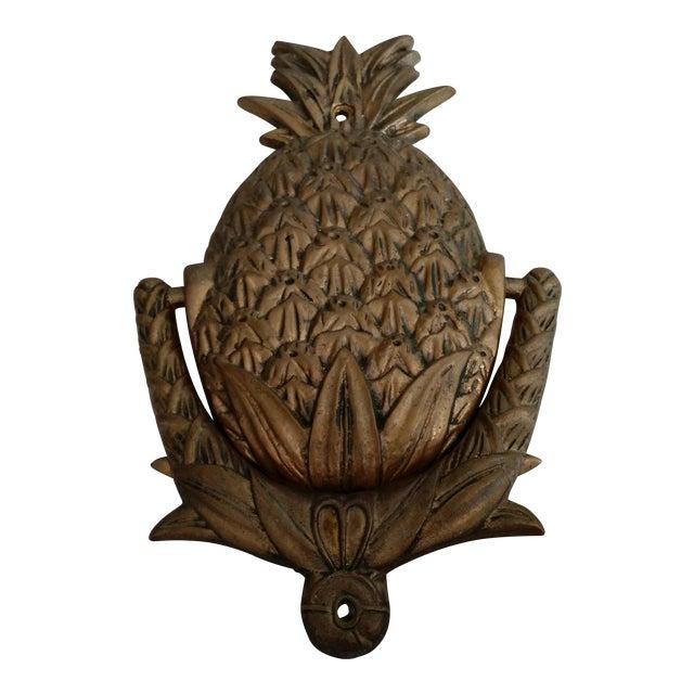 Vintage Brass Pineapple Door Knocker - Image 1 of 4
