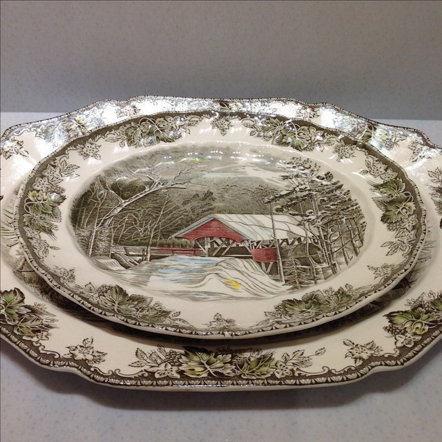 English Platters by Johnson Bros - Set of 2 - Image 3 of 10