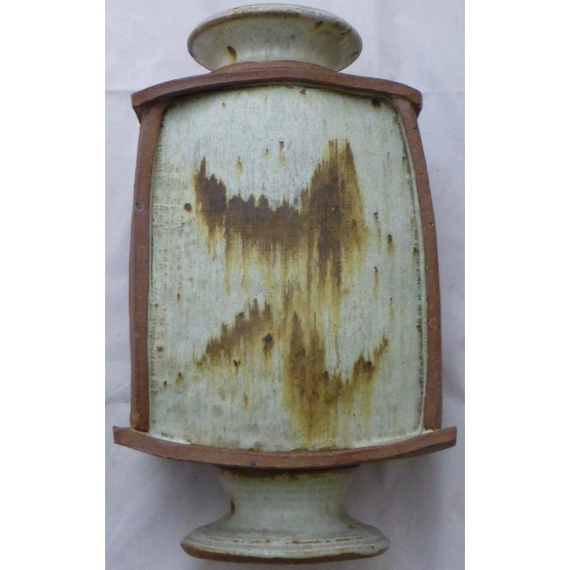 Earthtone Studio Pottery Vase by Vermont Artist Robert Deeble - Image 11 of 11