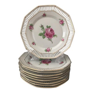 1930 Schumann Bavaria Dessert Plates - Set of 8 For Sale