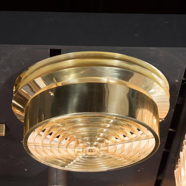 1970s Mid-Century Polished Brass Flush Mount Chandelier by Hans-Agne Jakobsson For Sale - Image 5 of 7