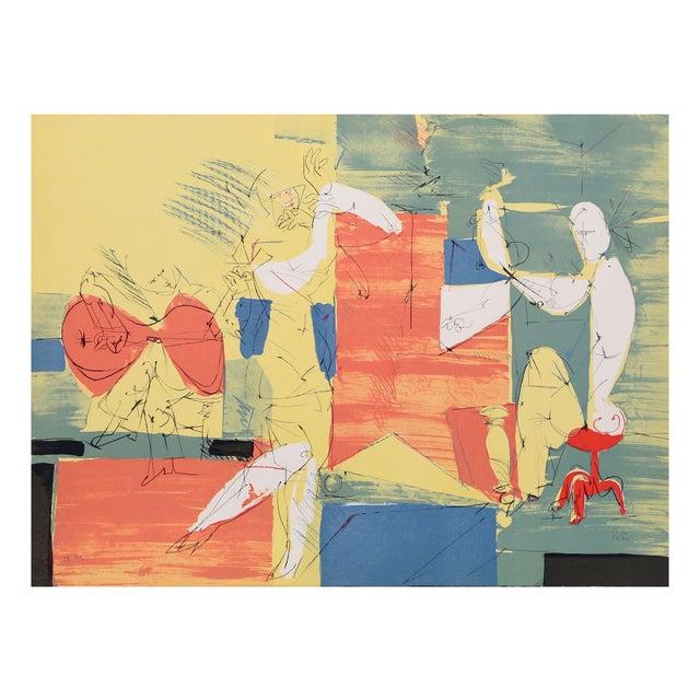 "Dimitri Petrov ""Cubist Band"" Lithograph For Sale"