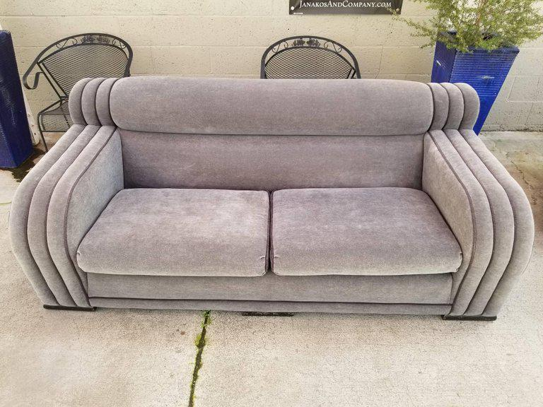 French Art Deco Sofa And Club Chair Set   Set Of 4   Image 4 Of