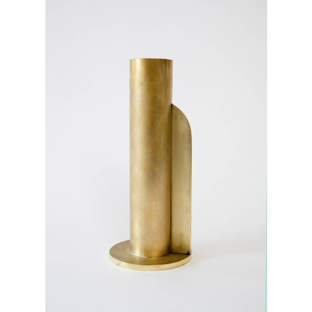 Modern Contemporary 001 Vase in Brass by Orphan Work For Sale In New York - Image 6 of 8