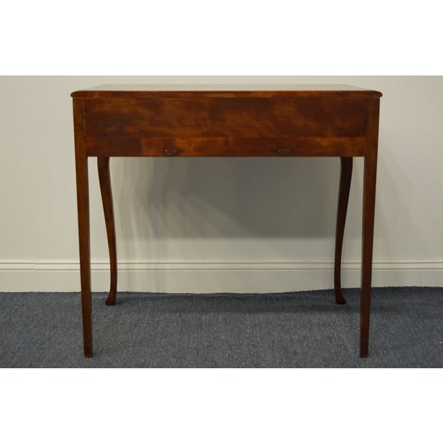 """1960s Vintage Antique Country French Walnut 35"""" Vanity For Sale - Image 10 of 12"""