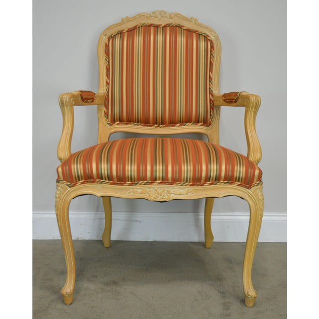 Ethan Allen Home Collection Louis XV Style Armchair Made in Italy For Sale - Image 10 of 13
