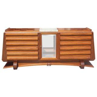 Masterpiece Gaston Poisson French Art Deco Mahogany Sideboard /Buffet Circa 1940s.