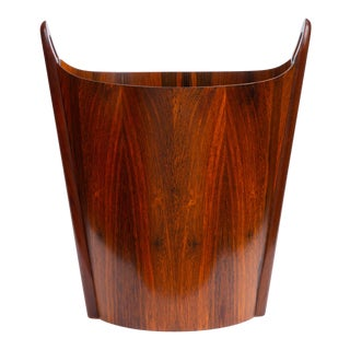 Norwegian Rosewood Wastebasket by Einar Barnes for p.s. Heggen For Sale