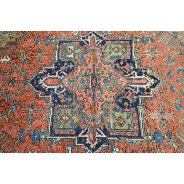 "Antique Persian Heriz Rug - 6'10"" X 9'11"" - Image 4 of 6"