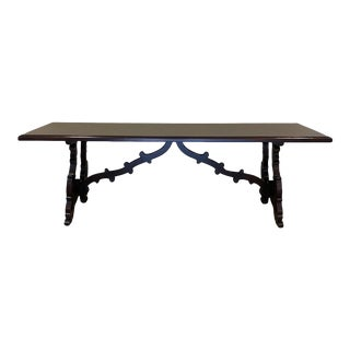 Spanish Style Trestle Table For Sale