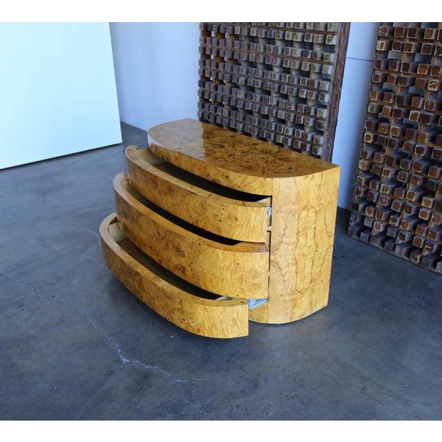 1980s Vintage Sculptural Burl Wood Chest For Sale - Image 9 of 11
