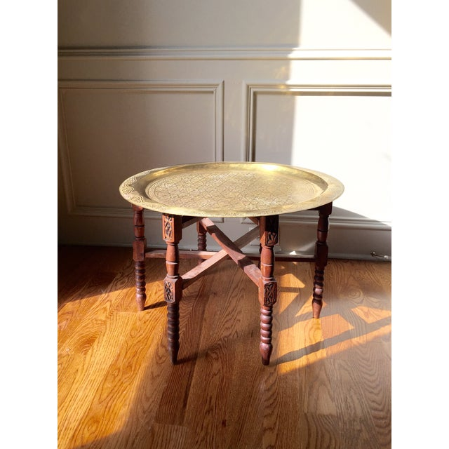 Vintage Moroccan Style Tea Table - Image 2 of 5
