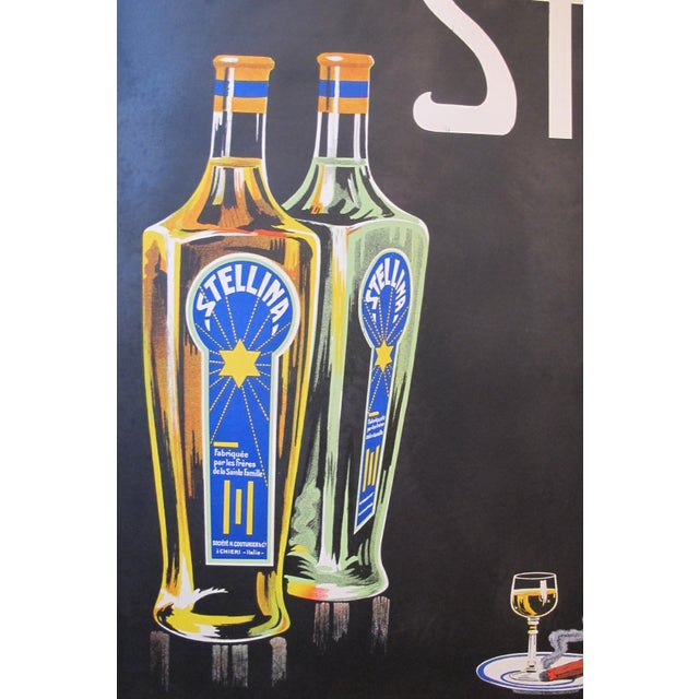 Paper 1930s Original French Advertisement Poster - Alcohol Poster - Stellina For Sale - Image 7 of 10
