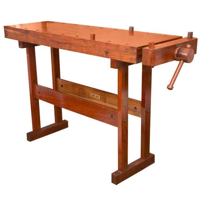 Rhodesian Teak Work Bench - Image 1 of 7