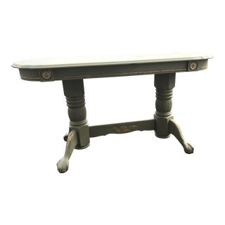 Green & Gold Accent Sofa Table