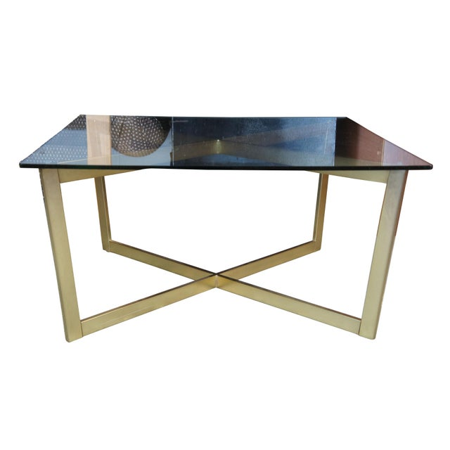 See-through furniture like our cross-base coffee table helps make a space feel more open Contemporarily made.