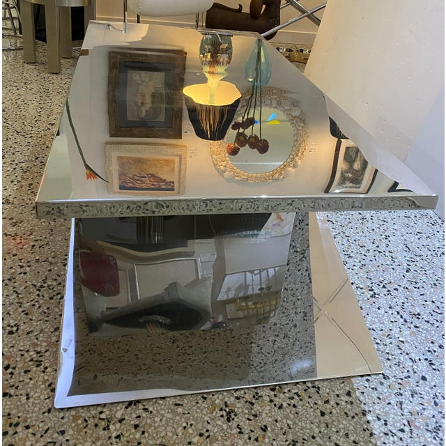 X Base Cocktail Table Polished Nickel Plated Italian Modern For Sale In West Palm - Image 6 of 11