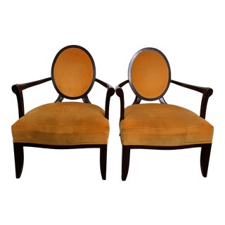 Barbara Barry for Baker Furniture X-Back Lounge Chairs - a Pair For Sale
