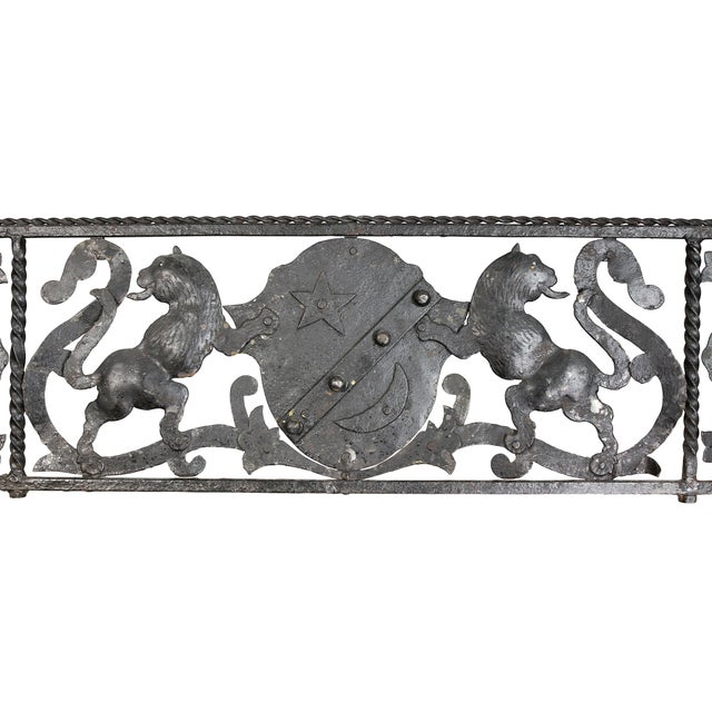 Baroque Italian Wrought Iron Fire Fender For Sale - Image 3 of 8