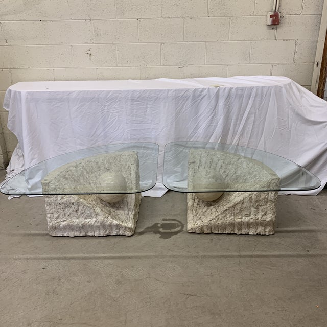 Vintage Post Modern Tessellated Stone Coffee End Tables - a Pair For Sale - Image 13 of 13
