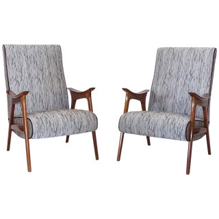 Mid-Century Scandinavian Modern Lounge Chairs - a Pair For Sale
