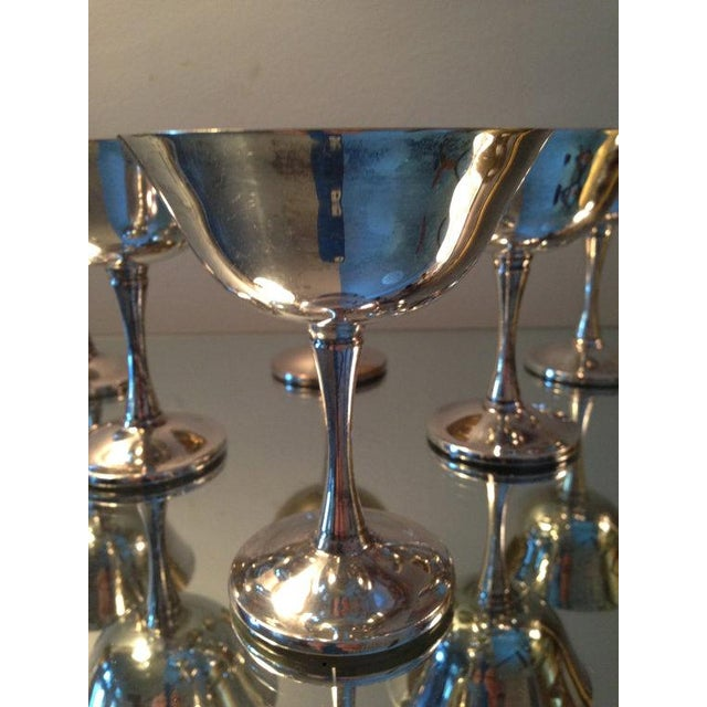 Silver Plated Stemmed Goblets - Set of 6 - Image 3 of 6