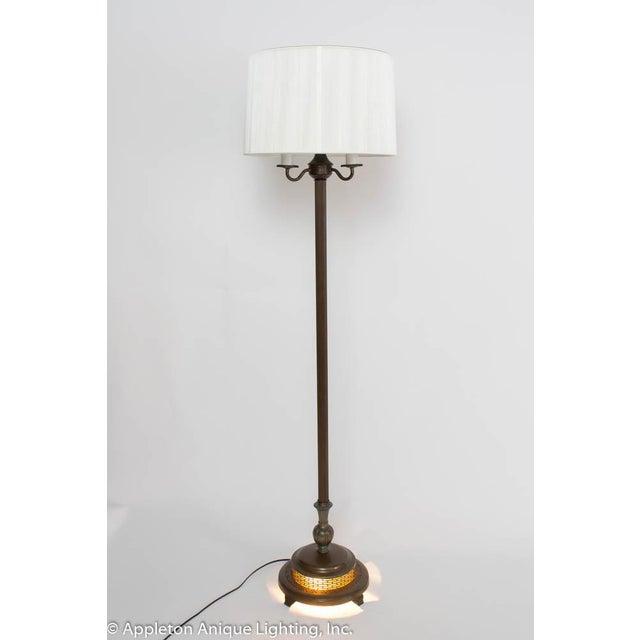 1940s Restored Vintage 6 Way Floor Lamp With Mica Nightlight For Sale - Image 5 of 8