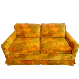Velvet Down Henredon Loveseat Sofas Two Available For Sale