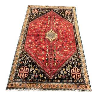 Vintage Persian Shiraz Rug - 3′4″ × 5′7″