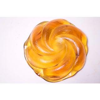 1960s Fenton Blown Glass Amber Ashtray / Display Bowl Preview