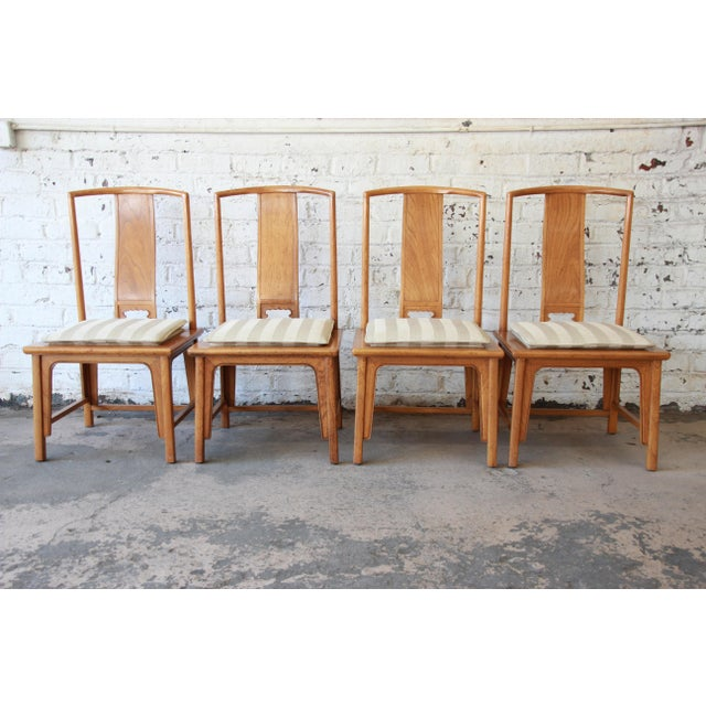 Mid 20th Century Baker Furniture Chinoiserie Ming Dining Chairs - Set of 6 For Sale - Image 5 of 15